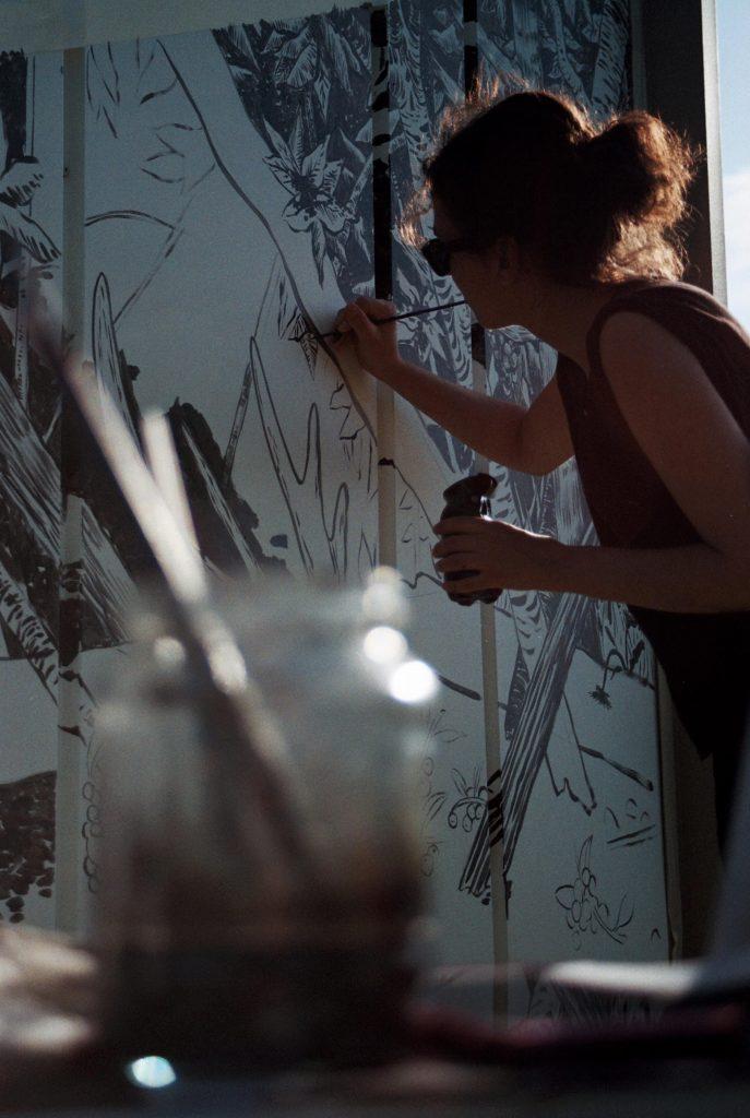 Cristina Ramirez artista de arte contemporáneo.