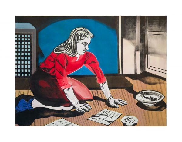 En el suelo. Obra de Marta Beltran