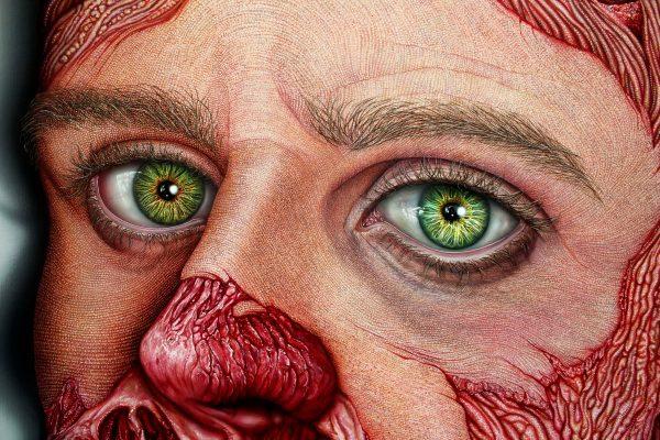 Detalle Flesh Vanitas IX. Miguel Scheroff. detalle Hibrida Gallery