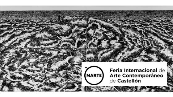 Cristina Ramirez artista de hibrida gallery en feria internacional de arte contemporaneo Marte en Castellón